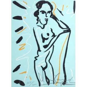 Iberê Camargo, Figura Feminina, Serigrafia, 22 alt X 16 larg (cm), acid