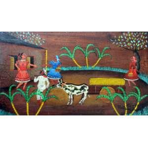 Heitor dos Prazeres, Carregando Cana, Óleo sobre madeira, 30 alt X 42 larg (cm), acid, Ano: 1963