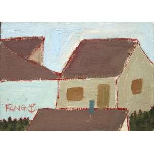 Fang Chen Kong, Casario, Óleo sobre madeira, 16 alt X 22 larg (cm), acie
