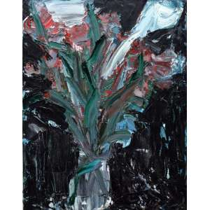 Antônio H Cabral, Vaso de Flores, Óleo sobre tela, 80 alt X 60 larg (cm), acid