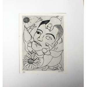 Djanira Motta e Silva, Retrato de um Amigo, Gravura metal, 28 alt X 19 larg (cm), acid, XIX