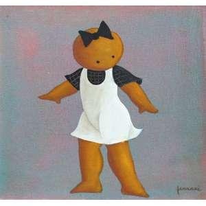 Ricardo Ferrari, Figura, Óleo sobre tela, 30 alt X 30 larg (cm), acid e verso, Ano: 2007