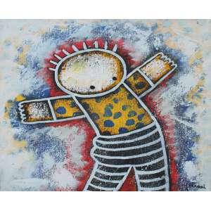Ricardo Ferrari, Figuras, Acrílica sobre tela, 30 alt X 30 larg (cm), acid e verso, Ano: 2007
