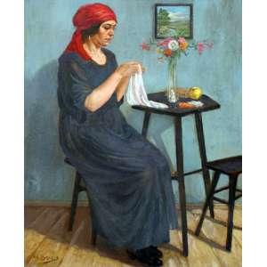 Modesto Brocos, Figura Feminina, Óleo sobre madeira, 60 alt X 47 larg (cm), acie