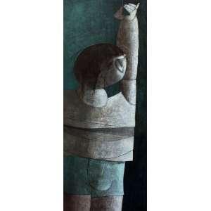 Inos Corradin, Menino na Losa, Óleo sobre tela, 100 alt X 37 larg (cm), acid