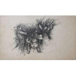 Roberto Magalhães, Músicos, Nanquim, 31 alt X 48 larg (cm), acid, Ano: 1964
