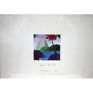 Gonçalo Ivo, Souvenir do Rio, Técnica mista sobre papel, 18 alt X 25 larg (cm), acid, Ano: 1982
