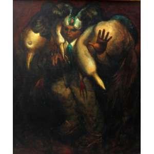 Mário Gruber, Fantasiado, Óleo sobre madeira, 73 alt X 60 larg (cm), acid, Ano: 1980