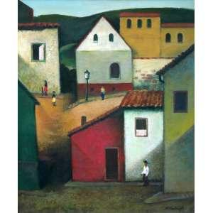 Ado Malagoli, Casario, Óleo sobre tela, 65 alt X 54 larg (cm), acid
