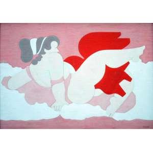 Milton Dacosta, Vênus e Água, Óleo sobre tela, 35 alt X 50 larg (cm), acid e verso, Ano: 1978 -Histórico: Com selo da Galeria Bonino no verso