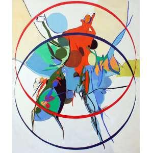 Maria Polo, Abstração, Óleo sobre tela, 100 alt X 80 larg (cm), ass centro, Ano: 1969 -Histórico: (Obra com Documento emitido pela Galeria Dagmar Saboia)
