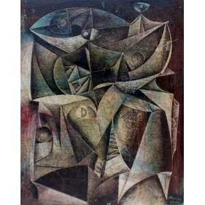 Silvio Pléticos, Pescadores, Óleo sobre madeira, 30 alt X 23 larg (cm), acid, Ano: 1970
