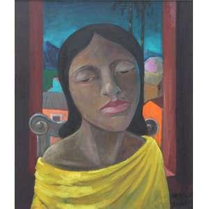 Harry Elsas, Figura Feminina, Óleo sobre tela, 60 alt X 50 larg (cm), acid