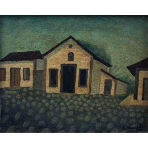 Amadeo Luciano Lorenzato, Casario, Óleo sobre placa, 40 alt X 34 larg (cm), acid (Obra Possui Recibo de compra emitido pela galeria guignard de Belo Horizonte)