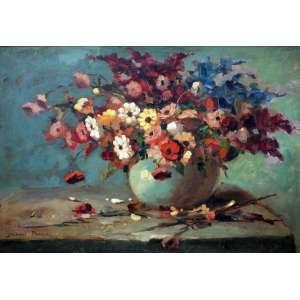 Durval Pereira, Vaso de Flores, Óleo sobre tela, 46 alt X 60 larg (cm), acie
