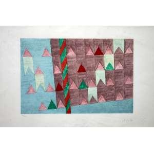 Alfredo Volpi, Banderinhas, Litografia, 45 alt X 68 larg (cm), acid, Ano: acid, 96/200