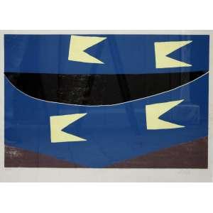 Alfredo Volpi, Banderinhas, Litografia, 56 alt X 75 larg (cm), acid, 15/100