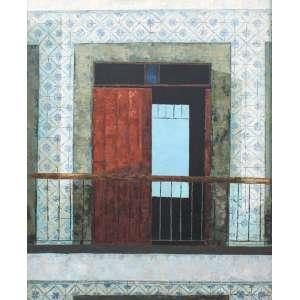 José Paulo Moreira da Fonseca, Sacada Terra de Sienna, Óleo sobre tela, 60 alt X 48 larg (cm), acid e verso, Ano: 1961