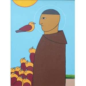 Antônio Maia, São Francisco, Acrílica sobre tela, 50 alt X 36 larg (cm), acid e verso, Ano: 2004