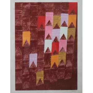 Alfredo Volpi, Banderinhas, Litografia, 74 alt X 55 larg (cm), acid, 1/150
