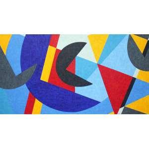 Claúdio Tozzi - Dança - AST - 70 x 140 cm - acid e verso - 2017 - Acompanha certificado emitido pelo artista