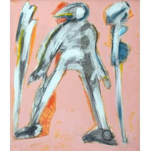 Ivald Granato, Figura, Óleo sobre tela, 100 alt X 80 larg (cm), acid e verso, Ano: 1999