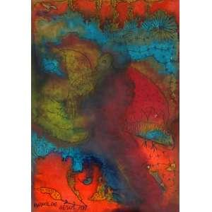 Isabel de Jesus, Composição, Técnica mista sobre papel, 18 alt X 13 larg (cm), acie, Ano: 1981