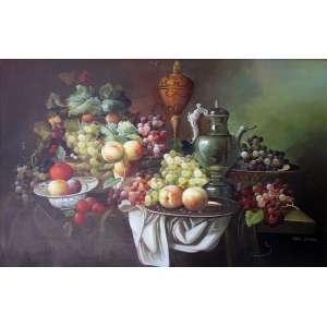 Hans Zimmer, Composição com Frutas, Giclee sobre tela, 60 alt X 90 larg (cm), acid