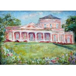 Renée Lefèvre, Palácio da Princesa Izabel, Óleo sobre tela, 42 alt X 52 larg (cm), acid e verso, Ano: 1980 -Histórico: Reproduzindo no livro do Artista.