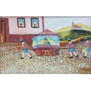 Zizi Sapateiro, Liteira- Minas Gerais, Óleo sobre tela, 30 alt X 40 larg (cm), acid e verso, Ano: 1978