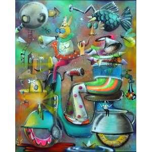 Alemão, Qual o Nome Você me Daria, Óleo sobre tela, 100 alt X 130 larg (cm), acid e verso, Ano: 2017 -Histórico: Obra sobre o Nº 000874 do Atelier do Artista