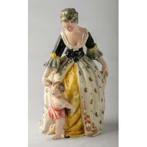 figura en ceramica italiana firmada circa 1920. 28 cm de alto.