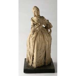 Figura en cerámica italiana circa 1900 firmada. 37 cm de alto.