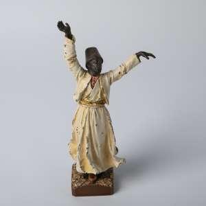 Figura en bronce vienes austriaco circa 1900. 20 cm de alto.