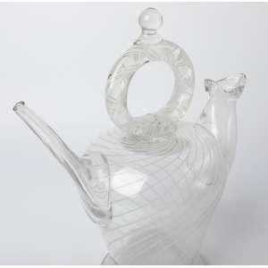 jarra realizada en cristal de murano circa 1950. 33 cm de alto.