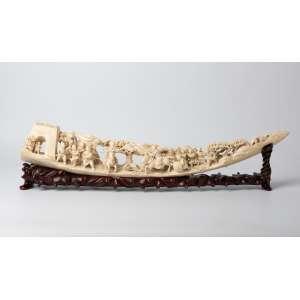 Talla en marfil chino siglo XIX. 66 cm de alto.