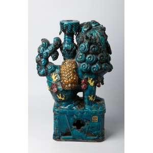 Perro Fu en ceramica china siglo XIX. 48 cm de alto.