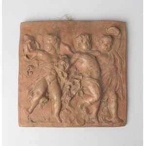 Relieve en terracota italiana siglo XIX. Medidas: 4 x 33 x 33 cm