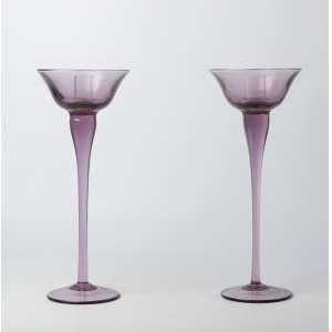 Par de candeleros en cristal de murano italiano circa 1950. 32 cm de alto.
