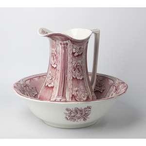 Jofaina en cerámica inglesa circa 1900. Medidas: 33 x 43 cm