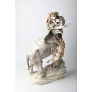 Figura en cerámica checoslovaca circa 1930. 66 cm de alto.