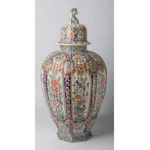 Potiche en cerámica francesa siglo XIX. 61 cm de alto.
