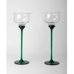 Par de copones en cristal italiano de Murano circa 1950. 40 cm de alto.