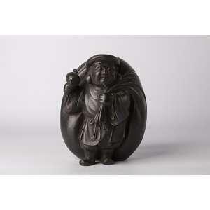 Escultura en bronce Japones circa 1900 periodo Meiji Altura 22cm
