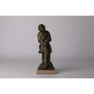 Escultura japonesa realizada en bronce circa 1900 Periodo Meiji altura 28cm.<br />
