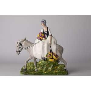 Figura en porcelana francesa firmada Granger Art Deco circa 1920. <br />Altura 27cm <br />Largo 25cm.<br />