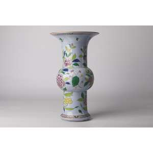 Florero en porcelana Hungara Herend circa 1930 <br />Altura 34cm.<br />