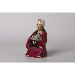 Figura en porcelana de limoges art deco orientalista, Altura 17 cm.<br />