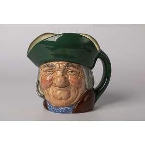 Mug en cerámica inglesa Royal Dulton Toby Philpots, Altura 15 cm.<br />
