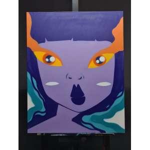 Artista: Mari Mats<br />Tamanho da tela: 100x80cm<br />Data: 23/02/2021<br />Técnica: Tinta acrílica<br />Sem moldura<br />